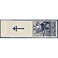 FRANCE LIBRE N°6 POUR L'AIDE AUX RÉSISTANTS, TIMBRE NEUF** 1943