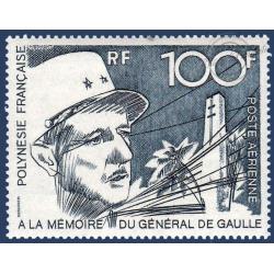 POLYNESIE POSTE AERIENNE N°_70 PORTRAIT GENERAL DE GAULLE (1972)