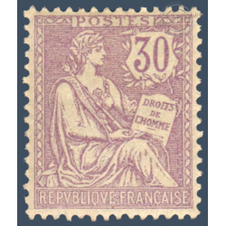 N°__128 TYPE MOUCHON RETOUCHE 30C VIOLET, TIMBRE NEUF* 1902