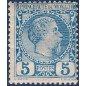MONACO N°3 TYPE PRINCE CHARLES III, TIMBRE NEUF* 1885