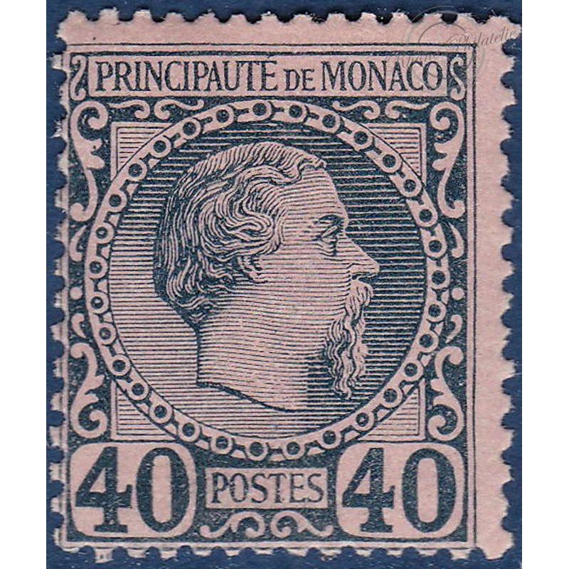 MONACO N°7 TYPE PRINCE CHARLES III, TIMBRE NEUF* 1885