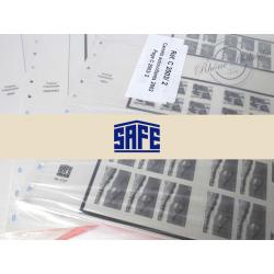 FEUILLES SAFE DUAL 2002-2003 pour carnets timbres français et bloc souvenir