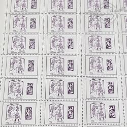 FEUILLE COMPLETE No4976 MARIANNE DE CIAPPA (2015) VIOLET LETTRE MONDE 20G