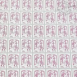 FEUILLE COMPLETE N°4772 MARIANNE DE CIAPPA (2013) ROSE FUSHIA LETTRE 100G
