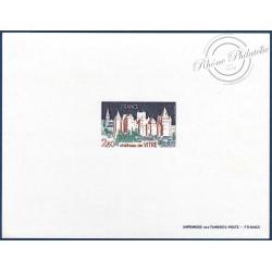 EPREUVE DE LUXE CHATEAU DE VITRE No1949, TIMBRE NEUF**(1977)
