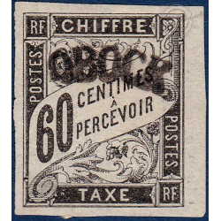 OBOCK TAXE N°4 TIMBRE TYPE DUVAL AVEC CHARNIERE