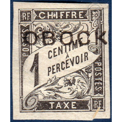 OBOCK TAXE N°5 TIMBRE TYPE DUVAL AVEC CHARNIERE