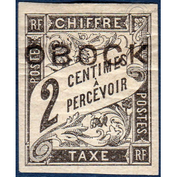 OBOCK TAXE N°6 TIMBRE TYPE DUVAL AVEC CHARNIERE