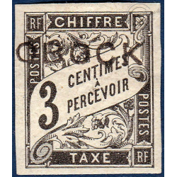 OBOCK TAXE N°7 TIMBRE TYPE DUVAL AVEC CHARNIERE
