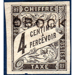OBOCK TAXE N°8 TIMBRE TYPE DUVAL AVEC CHARNIERE