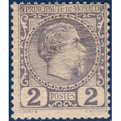 MONACO No2 TYPE PRINCE CHARLES III TIMBRE SANS CHARNIERE