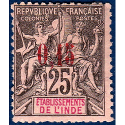 INDE No_22 TIMBRE POSTE TYPE SAGE AVEC CHARNIERE