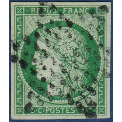 N°2 TYPE CERES 15c. VERT, TIMBRE OBLITERE ETOILE