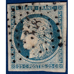 N°4f TYPE CERES BLEU, TIMBRE OBLITERE 1850