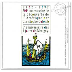 BLOC SOUVENIR DE MARIGNY 1992 CHRISTOPHE COLLOMB