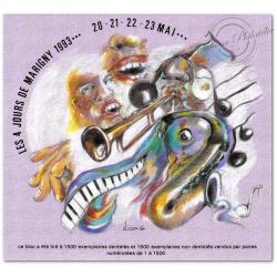 BLOC SOUVENIR DE MARIGNY MAI 1993 JAZZ