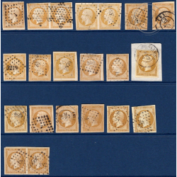 N°_13A/13B TYPE NAPOLEON, TIMBRES OBLITERES 1853-1860