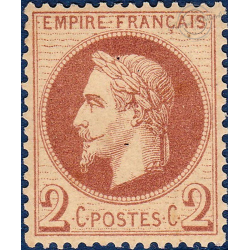 N°_26B TYPE NAPOLEON, TIMBRE AVEC CHARNIERE, CACHET A DATE, 1862