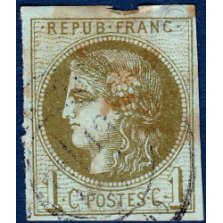 N°_39B TYPE CERES OLIVE, TIMBRE OBLITERE 1870