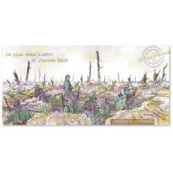 BLOC SOUVENIR BATAILLE DE VERDUN 1916-2016: LE PLUS BEAU TIMBRE DE L'ANNÉE 2016