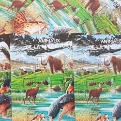 LOT DE 29 BLOCS ANIMAUX DE LA PREHISTOIRE, FACIALE 76€