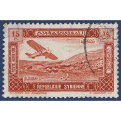 SYRIE POSTE AÉRIENNE N°66 PROCLAMATION RÉPUBLIQUE, OBLITÉRÉS 1934