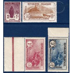 N°__229 A 232 SERIE ORPHELINS DE GUERRE ,TIMBRES NEUFS** 1926