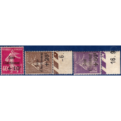 N°__266 A 268 CAISSE D'AMORTISSEMENT TIMBRES NEUFS **/* 1930