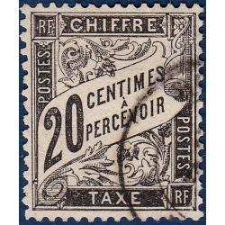 TAXE N°_17 TYPE DUVAL 20C NOIR 1881-1892 TIMBRE OBLITERE