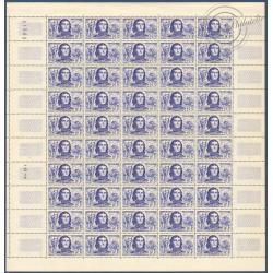 SÉRIE FEUILLES COMPLÈTES N°1207 A 1212, TIMBRES NEUFS** 1959