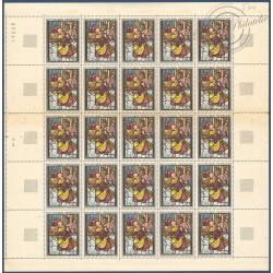 SÉRIE FEUILLES COMPLÈTES N°1376-1377, TIMBRES NEUFS** 1963