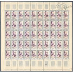 SÉRIE FEUILLES COMPLÈTES N°1288 A 1291, TIMBRES NEUFS** 1961