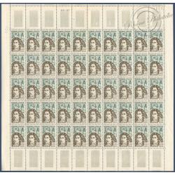SÉRIE FEUILLES COMPLÈTES N°1345 A 1350, TIMBRES NEUFS** 1962