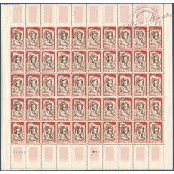SÉRIE FEUILLES COMPLÈTES N°1301 A 1305, TIMBRES NEUFS** 1961