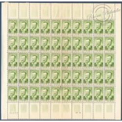 SÉRIE FEUILLES COMPLÈTES N°1166 A 1171, TIMBRES NEUFS** 1958