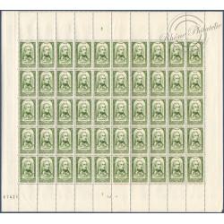 SÉRIE FEUILLES COMPLÈTES N°795 A 802, TIMBRES NEUFS** 1948