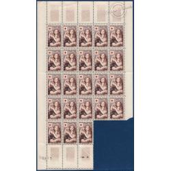 SÉRIE FEUILLES N°1006-1007, TIMBRES NEUFS** 1954