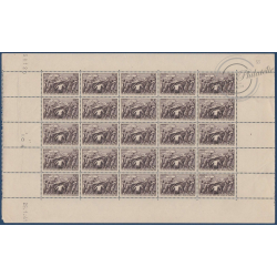 SÉRIE FEUILLES COMPLÈTES N°497-498, TIMBRES NEUFS** 1941