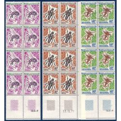 TAAF SÉRIE FEUILLETS N°40 A 42, TIMBRES NEUFS** 1972
