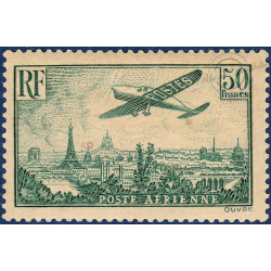 PA N°14 AVION SURVOLANT PARIS TIMBRE NEUF* 1936
