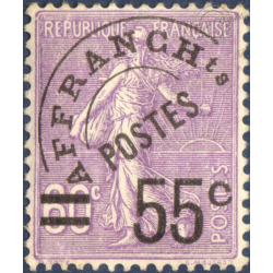 PRÉOBLITÉRÉ N°_47 SEMEUSE LIGNÉE SURCHARGÉE, TIMBRE AVEC CHARNIERE 1922-47