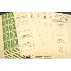 LOT 17 CARNETS 1010-C 1 TYPE MARIANNE DE MULLER 10 TIMBRES POSTE, 1955-59