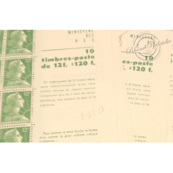 LOT 15 CARNETS 1010-C 1 TYPE MARIANNE DE MULLER 10 TIMBRES POSTE, 1955-59