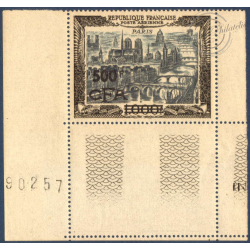 RÉUNION POSTE AÉRIENNE N°51 VUE STYLISÉE PARIS SURCHARGÉ, NEUF** 1951