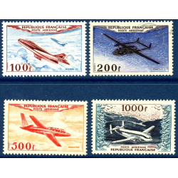 PA N°_30 A 33 PROTOTYPES, TIMBRES NEUFS**, 1954