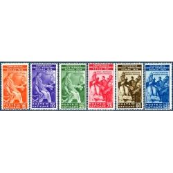 VATICAN TIMBRES-POSTE N°66 à 71 NEUFS AVEC/SANS CHARNIERE