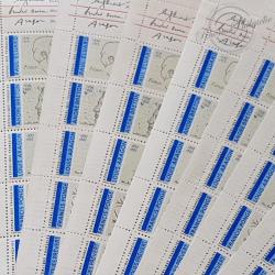 """LOT DE 15 CARNETS """"POETE DU 20E SIECLE"""" 1991 (BC2687), FACIALE 34€"""