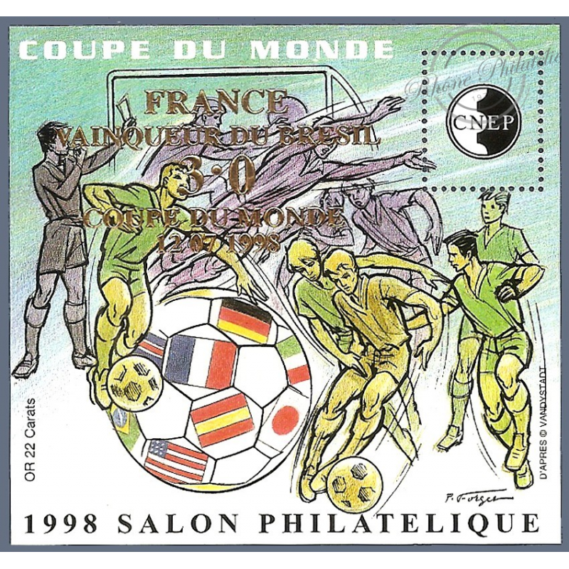 "BLOC CNEP N°_27 ""COUPE DU MONDE 1998"" SURCHARGE LUXE"