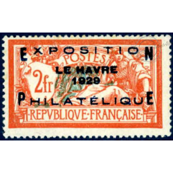 N°__257A EXPOSITION DU HAVRE 1929 TIMBRE NEUF **