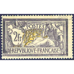 N°__122 TYPE MERSON 2F. VIOLET ET JAUNE, TIMBRE NEUF** 1900